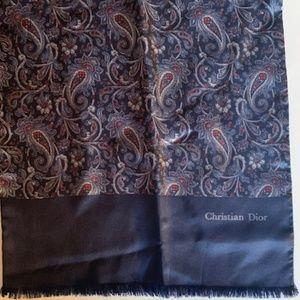 christian dior scarf. classic. luxury.
